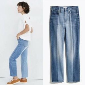 NWOT Madewell Classic Straight Jeans Pieced